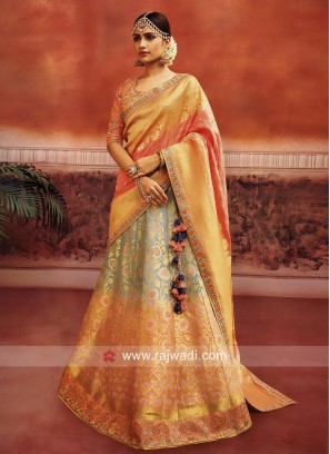 Shaded Brocade Lehenga Choli
