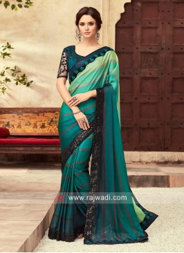 Shaded Chiffon Silk Saree with Border