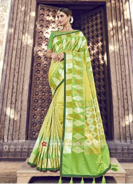 Shaded Designer Saree with Blouse