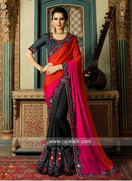 Shaded Half n Half Saree with Blouse