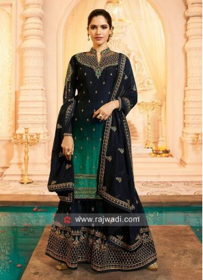 Shaded Heavy Work Gharara Suit