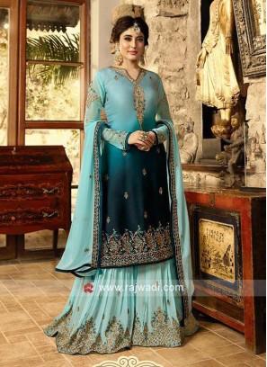Shaded Kritika Kamra Gharara suit