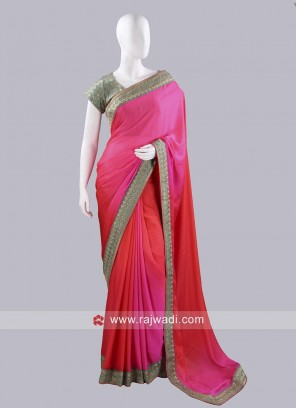Shaded Party Wear Choli Saree