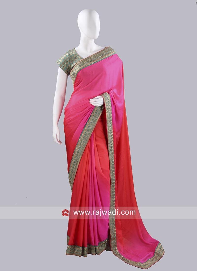Shaded Party Wear Choli Saree