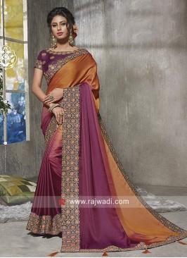 Shaded Party Wear Saree