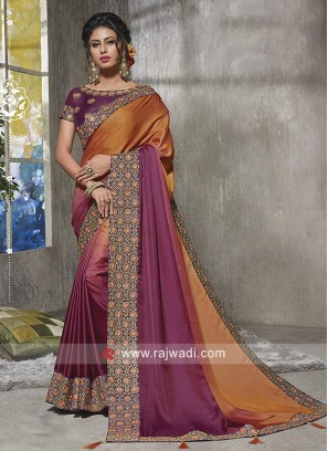 Shaded Party Wear Saree