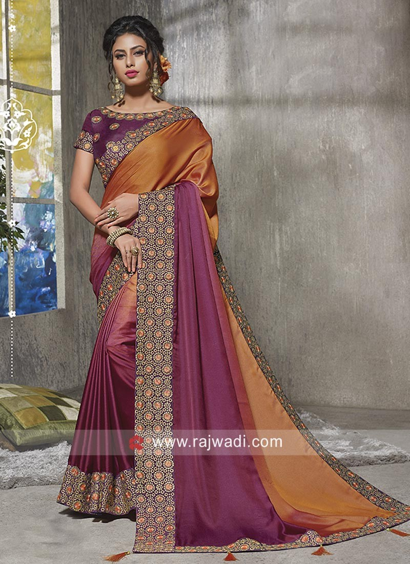 e0e80f44adc Shaded Party Wear Saree. Hover to zoom
