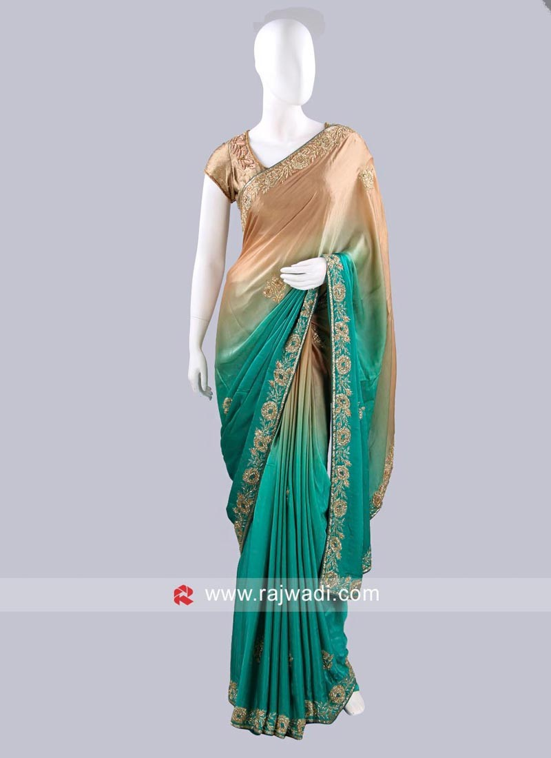 Shaded Satin Silk Saree