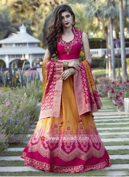 Shaded Wedding Lehenga Choli