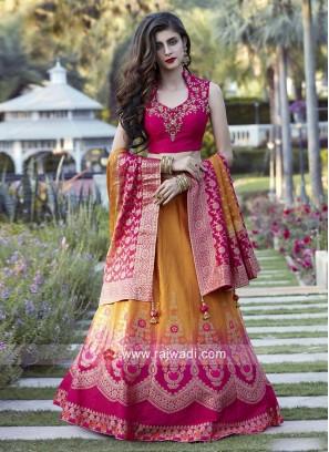 Shaded Wedding Lehenga Choli