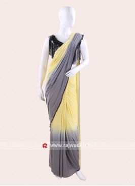 Lycra Shaded Wedding Draped Saree
