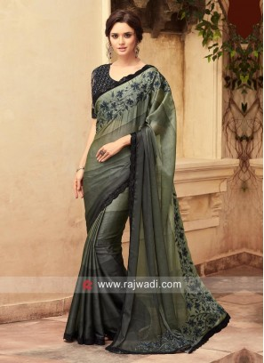 Shaded Wedding Saree with Blouse