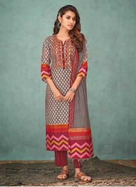 Shagufta Beautiful Printed Salwar Suit