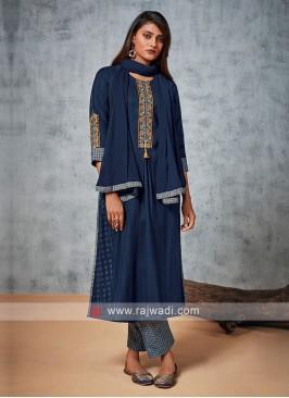 Shagufta Blue Pant Style Suit