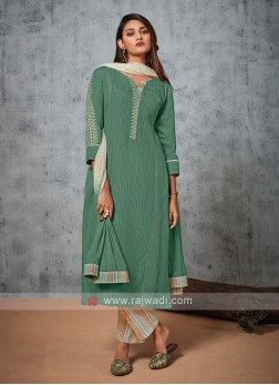 Shagufta Cotton Pant Suit