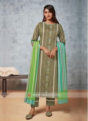 Shagufta Cotton Rayon Pant Style Suit