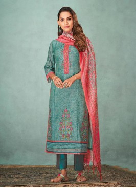 Shagufta Floral Embroidered Pant Style Suit