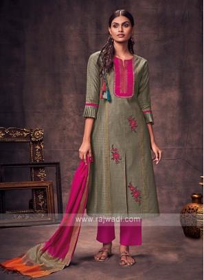 Shagufta Grey & Rani Salwar Suit