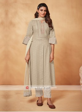 Shagufta Pant Suit In Beige