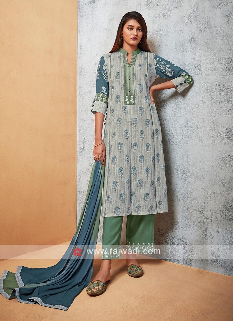 Shagufta Printed Pant Style Suit
