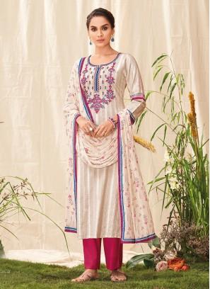 Shagufta Simple Salwar Kameez In Beige Color
