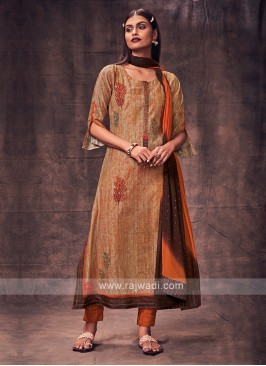 Shagufta Skin & Rust Color Salwar Suit
