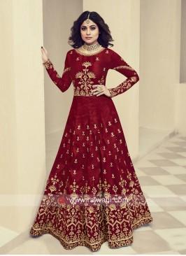 Shamita Shetty Semi Stitched Bridal Gown