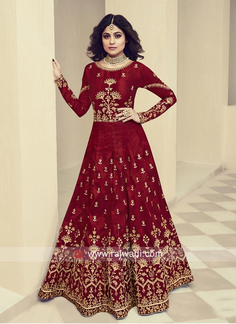 Shamita Shetty Semi Stitched Bridal Gown