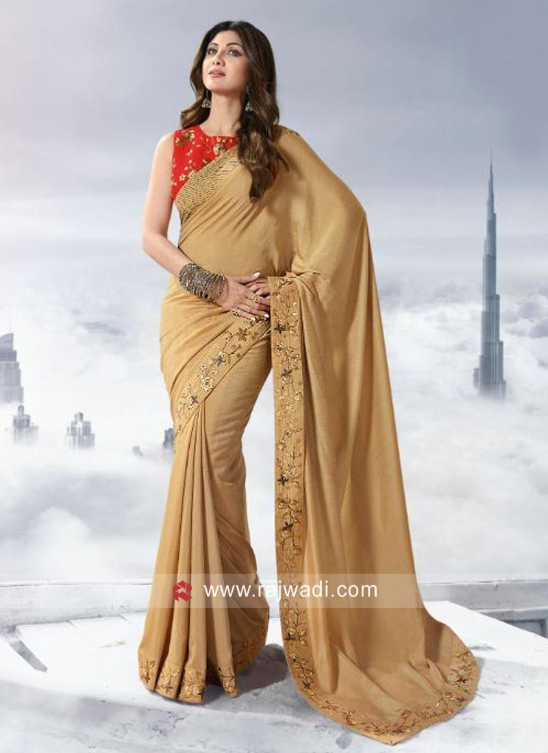 Shilpa Shetty Art Silk Saree with Blouse