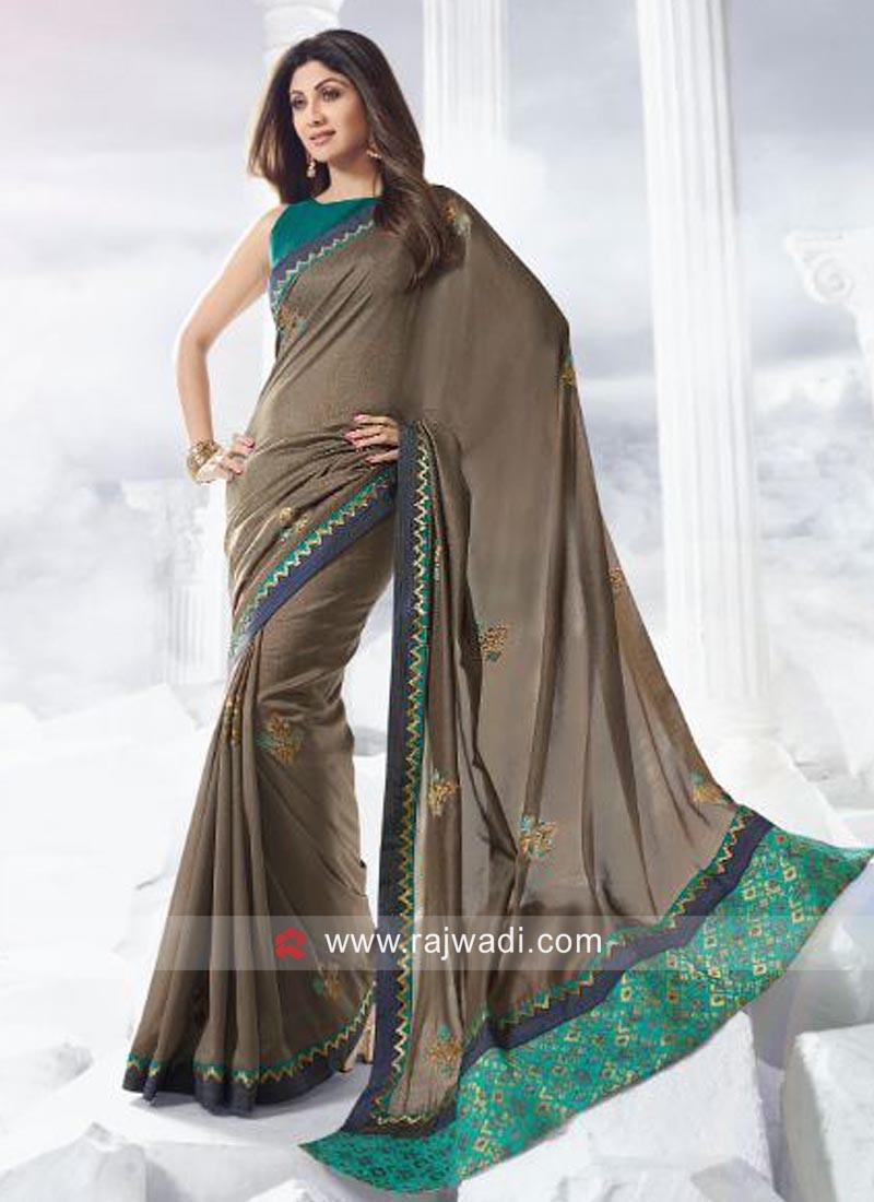 Shilpa Shetty Party Wear Saree with Blouse