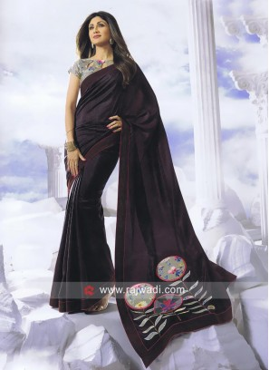 Shilpa Shetty Patch Work Saree