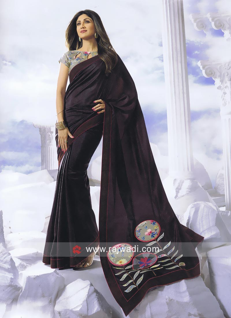 Shilpa Shetty Patch Work Saree