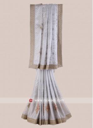 Shimmer Chiffon Designer Saree