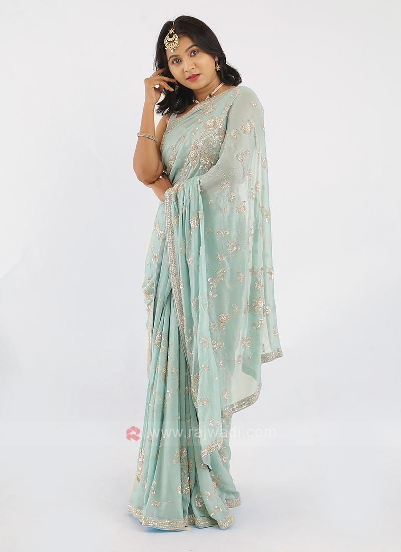 Shimmer Chiffon Saree