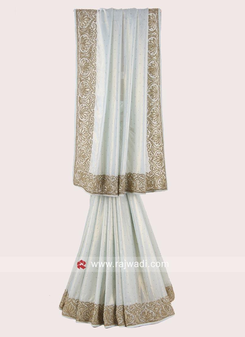 Shimmer Chiffon Sari with Heavy Border