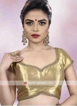 Shimmer Golden Color Ready Choli