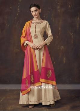 Shimmer Silk Anarkali Salwar Kameez
