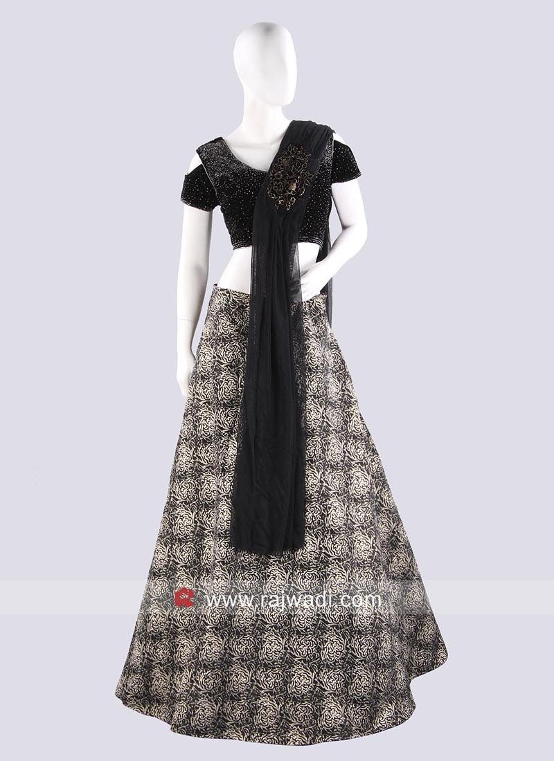 Shimmer Silk and Net Lehenga Saree