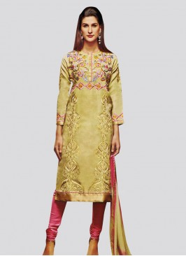 Shimmer Silk Churidar Suit