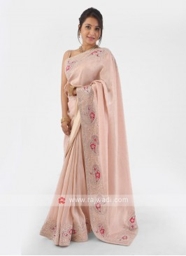 Shimmer Silk Designer Saree For Occasion