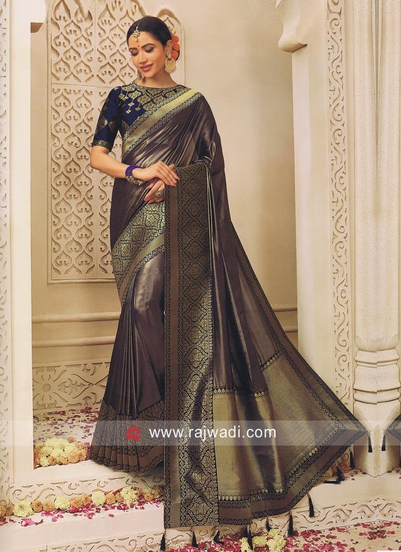Shimmer Silk Zari Weaved Saree