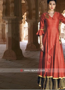 Short Long Designer Stitched Kurti