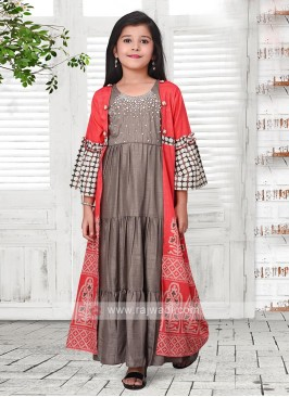 shrug style salwar suit for girl