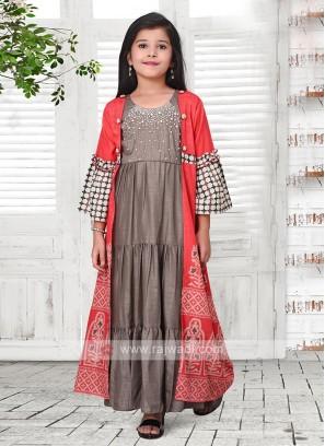 shrug style salwar suit for girl