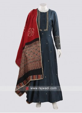 Silk Anarkali Salwar Suit For Party