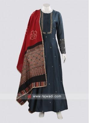 Silk Anarkali Salwar Suit For Party