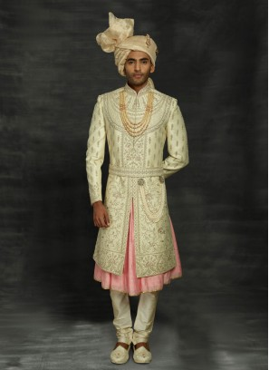 Anarkali Style Wedding Sherwani