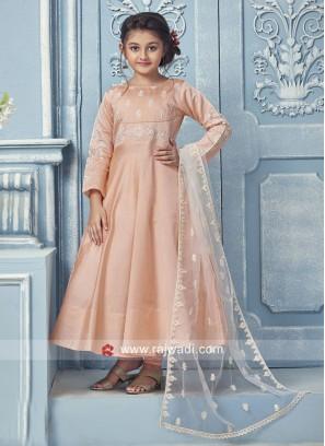 Silk Anarkali Suit for Girls