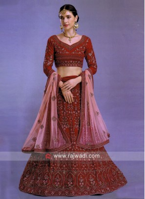 Silk and Art Silk Heavy Lehenga Choli with Dupatta