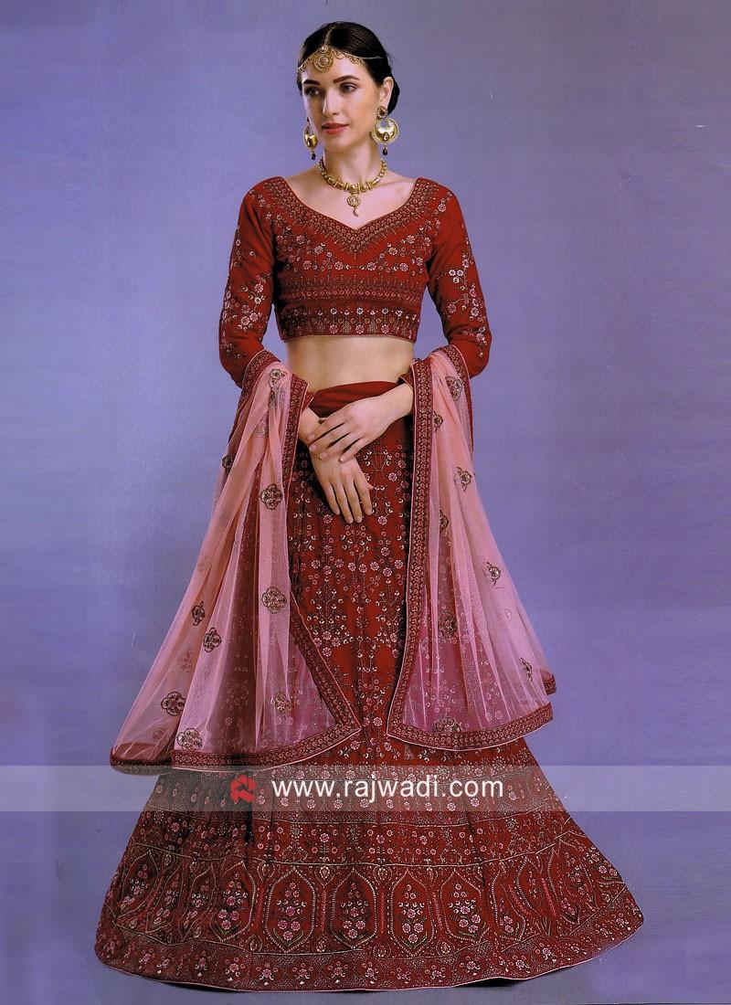 Silk and Art Silk Heavy Lehenga Choli with Dupatta
